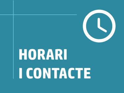 Enllaç Horari i contacte