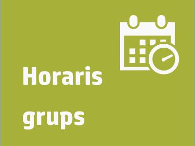 Enllaç Horaris grups