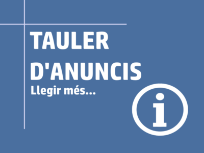 Enllaç Tauler anuncis-Comunicats famílies